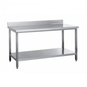Delovna miza s spodnjo polico in zadnjim robom